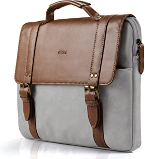 iDOO Laptop Bag Briefcase With Elegant Business Casual Style For 13-13.3 Inch Macbook, Laptop Messenger Case Cover,Brown