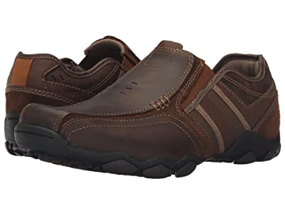SKECHERS Classic Fit Diameter Zinroy (Dark Brown Leather) Men