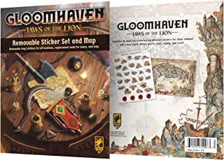 Cephalofair Games Gloomhaven: Jaws of The Lion Removable Sticker Set & Map, Multi