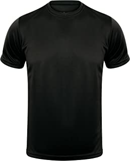 Athletic Sportswear | Mens T Shirt Gym Sports Fitness Active Wear Running Performance Top Tee Leisure Wear in Outdoor Acti...