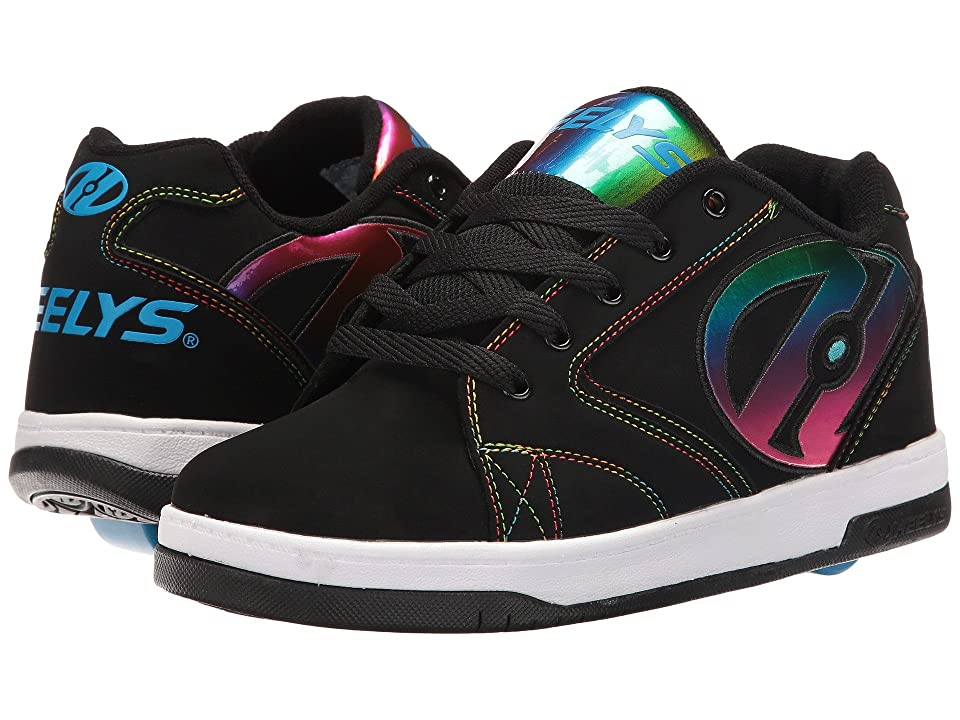 Heelys Propel 2.0 (Little Kid/Big Kid/Adult) (Black/Rainbow Foil) Kids Shoes