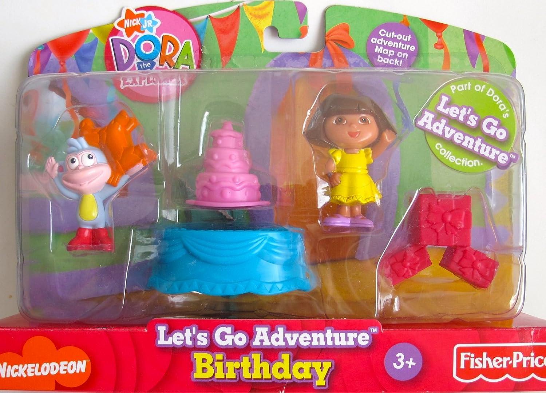 Nick Jr. DORA the Explorer LET'S GO ADVENTURE  BIRTHDAY  Playset w DORA Figure, BOOTS & More  (2007)