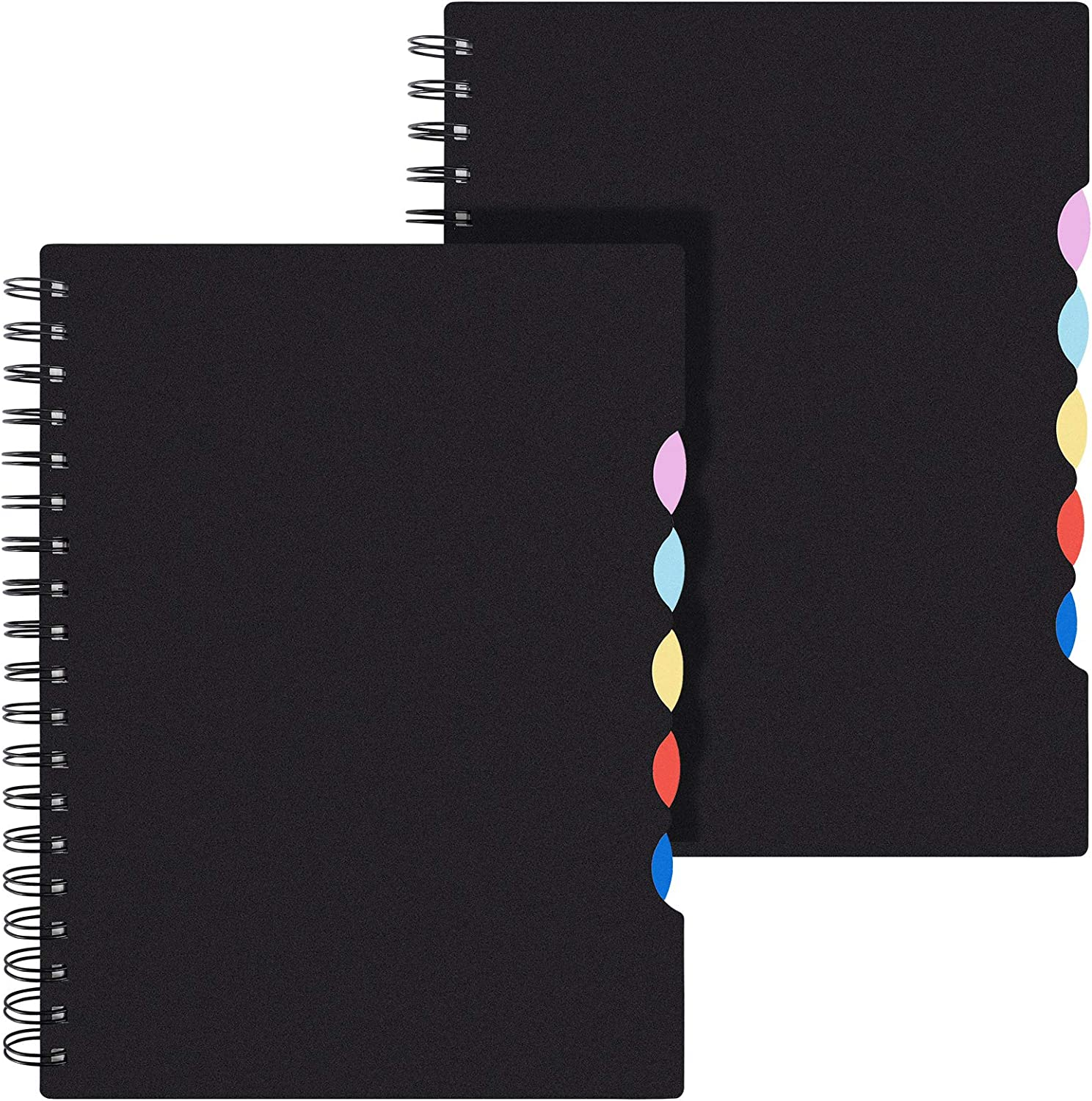"""EOOUT B5 Tabbed Spiral Notebook, Lined Journals, Ruled Notebooks with Colored Dividers, 10""""×7.5"""", 290 Pages, Memo Planner for School Office Supplies : Office Products"""