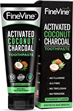 100% Natural Charcoal Teeth Whitening Toothpaste| Charcoal Toothpaste Made in USA| Acti-vated Charcoal Toothpaste for Healthy Gums & Pearly Whites| Organic Vegan Coconut Char-coal Toothpaste Whitening