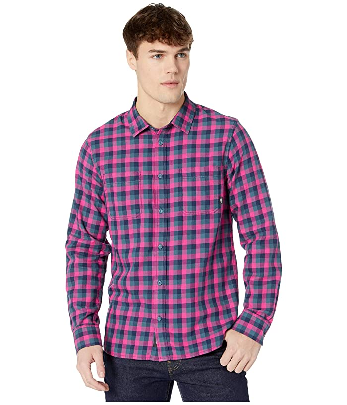 Vans  Alameda II Flannel Shirt (Fuchsia Purple/Stargazer) Mens Clothing