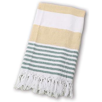 BEUFIRST Toalla de Piscina Grande 100% algodón. (100x180 cms). Toallas Playa algodón Fino 100% Natural. Muy absorbentes, Ligeras y de máxima suavidad. (Verde): Amazon.es: Hogar