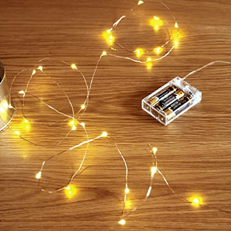 Luxury Lite LED String Lights COICE OF 6ft or 16ft  Battery Operated NEW