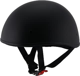Milwaukee Performance Helmets Unisex-Adult Half Bare Bones Helmet (Matte Black, Large)