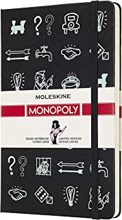 """Moleskine Limited Edition Monopoly Notebook, Hard Cover, Large (5"""" x 8.25"""") Ruled/Lined"""