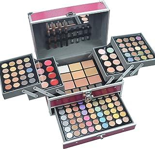 MUUZONING 132 Colours Mix Eyeshadow Concealer Lip Gloss Pressed Powder and Powder Blusher Makeup Palette Set Kit - Makeup ...