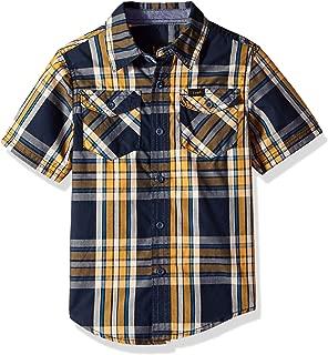 Boys' Little Short Sleeve Button Up Shirt