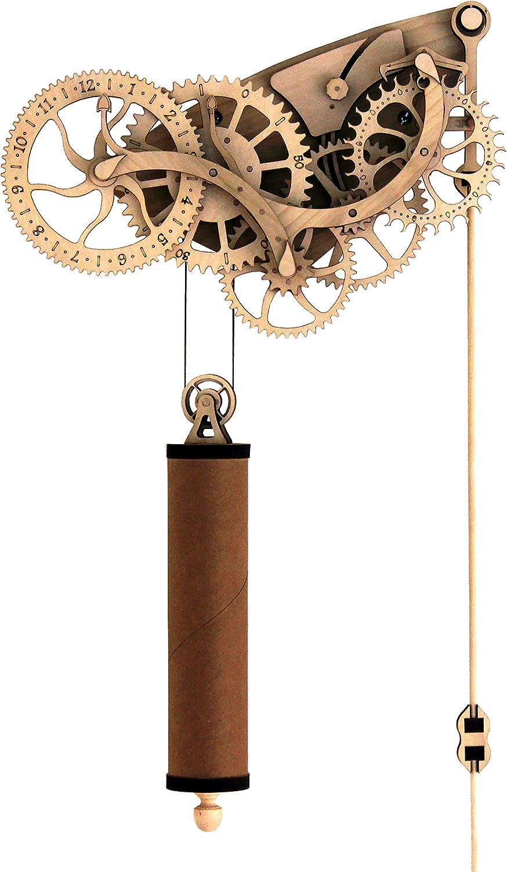 Abong LaserCut Mechanical Wooden Pendulum Clock  3D Clock Puzzle Model Kit  DIY Wooden Clock Kit