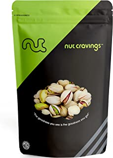 Nut Cravings - Roasted and Salted California Pistachios (1 Pound) – 16 Ounce