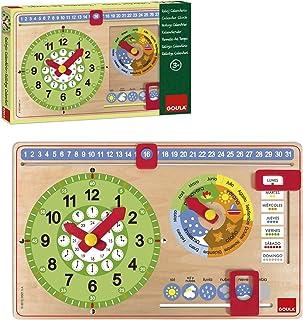 Goula Calendar Clock (51315) [Spanish Language Product]
