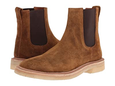 Frye Chris Crepe Chelsea (Tan Washed Waxed Suede) Men