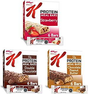 Kellogg's Special K Protein Meal Bars - 3 Flavored Variety Pack, Office or School Meal Replacement or Snack...