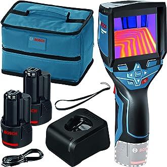 Bosch GTC 400 C Professional - Cámara térmica, Sistema 12V (2 baterías 12V + cargador, bolsa, con conectividad, medición -10 °C hasta +400 °C, resolución: 160 x 120px) - Edición Amazon