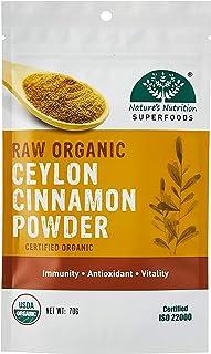 Nature's Nutrition Raw Organic Ceylon Cinnamon Powder, 70g