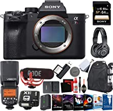 Sony Alpha a7R IV Mirrorless Digital Camera (Body Only) + 64GB Memory Card (SD) + Headphones + Video Microphone + External PRO TTL Flash + Wireless Flash Trigger + Camera Backpack
