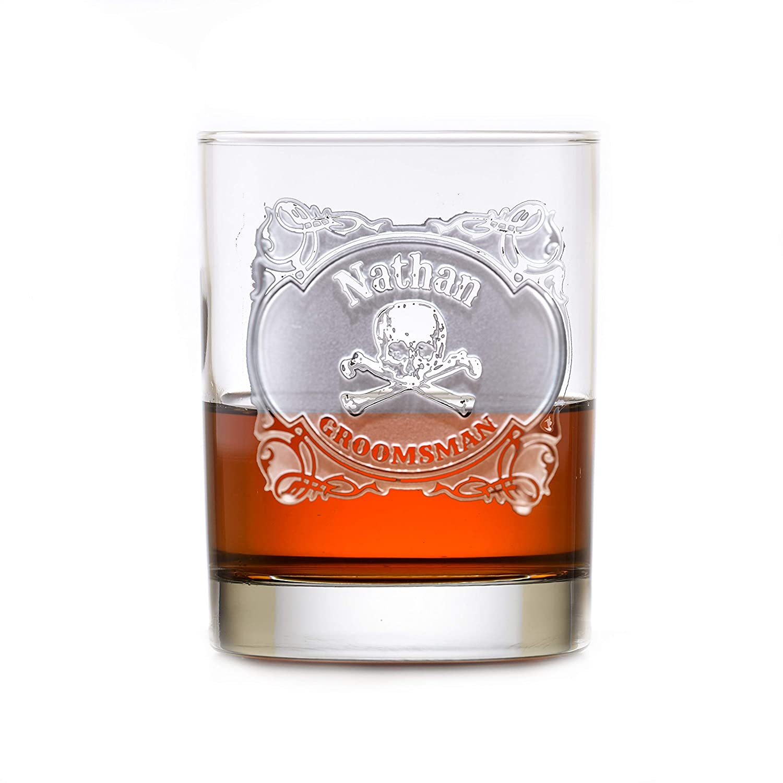 Skull security Cross Max 89% OFF Bones Groomsmen Whiskey Rocks Bourbon Set Glass Of