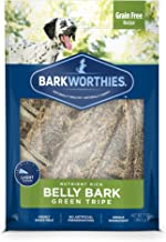 Barkworthies Green Tripe Belly Bark - Grain Free Recipe - All-Natural Healthy Dog Chews - Nutrient Rich and Single Ingredient with Real Lamb Protein (7oz)