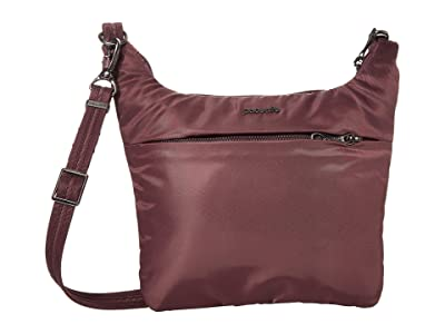 Pacsafe Cruise On The Go Crossbody (Pinot) Handbags