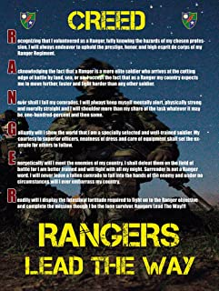 Army Rangers Creed Poster 18x24 Ranger Creed V3 US Military Gifts