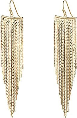 Kenneth Jay Lane - Polished Gold Fringe Earrings