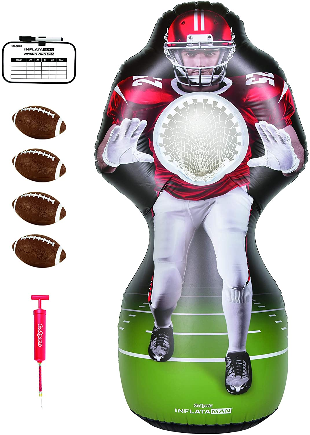 Free shipping on posting reviews GoSports Inflataman Football New popularity Challenge Tou Receiver - Inflatable