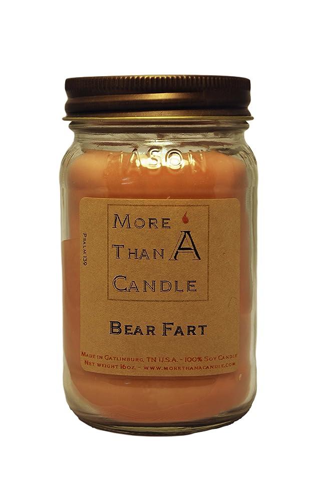 人工的なパドル書店More Than A Candle BRF16M 16 oz Mason Jar Soy Candle, Bear Farts
