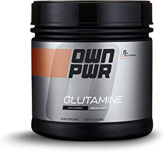 OWN PWR L-Glutamine Powder, Unflavored, 5 G, 1.1 Pound (100 Servings)