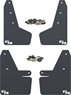 RokBlokz Mud Flaps for 2018 + Subaru Crosstrek - Multiple Colors Available - Mud Guards are Custom Cut and Fit - Includes All Mounting Hardware (Black with White Logo)