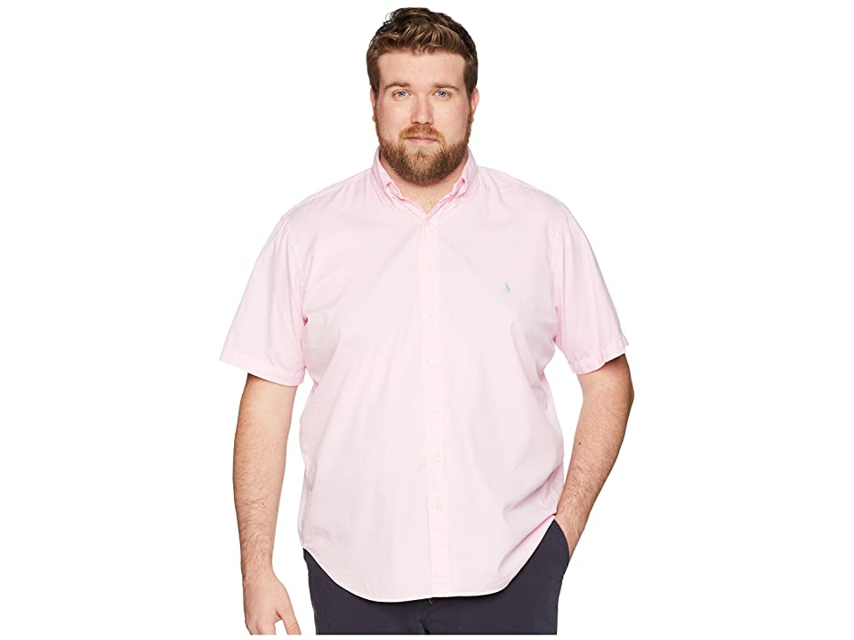 Polo Ralph Lauren Big Tall Garment Dyed Chino Short Sleeve Sport Shirt (Carmel Pink) Men