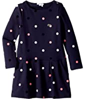 Lacoste Kids - Long Sleeve Polka Dot Dress (Toddler/Little Kids/Big Kids)
