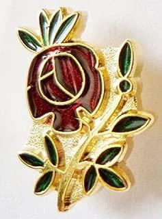 Rose Croix Cut Out Masonic Freemasonry Masonic Enamel and Metal Pin Badge