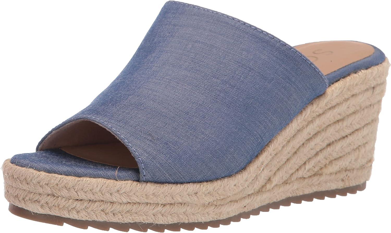 SOUL Naturalizer Women's Oodles Slide Sandal, Blue Fabric, 11