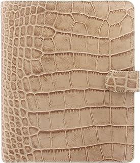 $239 » Filofax Classic Croc Print Leather Organizer Agenda Calendar with DiLoro Jot Pad Refills 026013 (Taupe 2021, A5 Paper Size...