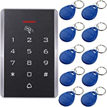 UHPPOTE 125KHz Single Door Proximity RFID Card Access Control Keypad Include EM4100 ID Keyfobs