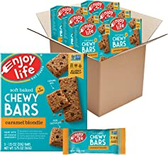Enjoy Life Foods Chewy Bars, Caramel Blondie Nut Free Bars, Soy Free, Dairy Free, Non GMO, Gluten Free, 6 Boxes (30 Total ...