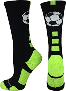 MadSportsStuff Soccer Ball Athletic Crew Socks (Multiple Colors)