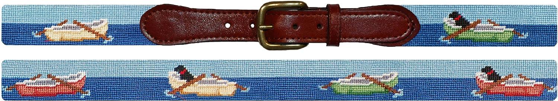 Smathers & Branson Rowboats Needlepoint Belt, Multi (B-203-P)