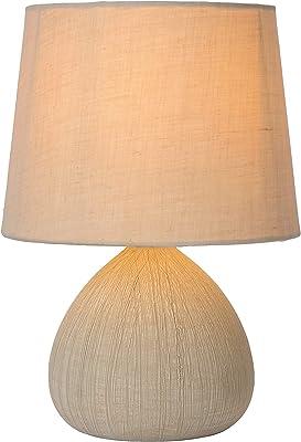 Lucide Ramzi de lámpara de mesa de color beige, cerámica, E27, 60 ...