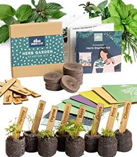 Indoor Herb Garden Starter Kit - Soil Starter Discs, Compact Herb Seed Varieties, Bamboo Labels and Detailed Instructions...