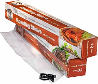 AWZ Products Multi-Purpose Oven Bags for Cooking - Works Great for Cooking, Roasting, Baking & Brining Chicken, Meat, Seafood & Vegetables - 10ft x12in - Up to 10 uses - Good for Juicy Dinner