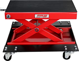 Extreme Max 5001.5059 Wide Motorcycle Scissor Jack with Dolly-1100 lbs