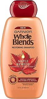 Garnier Whole Blends Restoring Shampoo Maple Remedy, For Dry, Damaged Hair, 22 fl. oz.