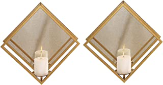 Perportu-min Candle stant Wall-Mounted Candle Holder Whole Housewares 12.59 X 21.06 Inch Decorative Metal Wall Candle Sconce Mosaic Glass Set of 1 Pack Green 1SDSTTQ-12-20-1R
