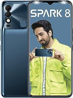 Tecno Spark 8 (Atlantic Blue, 2 GB RAM, 64GB Storage) | 16MP Dual AI Camera | New Metal Coding Design| 5000mAh | 8MP Selfi...