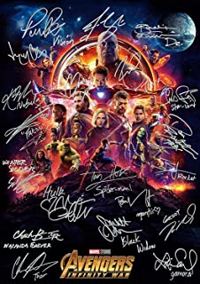 United Mart Poster Avengers Infinity War Ironman Spiderman Autograph Signed Movie Cover Poster 12 x 18 Inch Rolled Poster