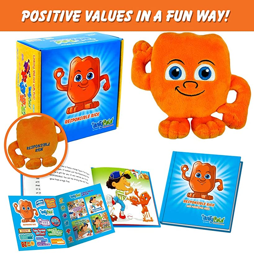 Kids Learning Toy that Inspires the Value of Responsibility in a Fun Way. Includes Plush, Children Book & Stickers in Gift Box. Educational Resource & Kindergarten Learning Game for Toddlers.